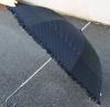 Schirm schwarz mit weissen Punkten